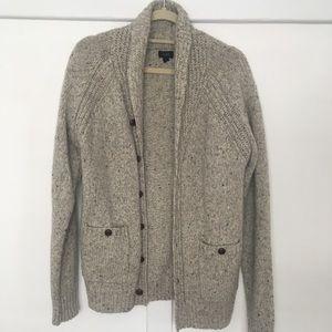 Italian wool shawl-collar cardigan sweater
